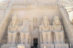för ramsessimbel för abu ii tempel Arkivfoton