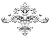 För ramsnirkel för tappning barock vektor för prydnad vektor illustrationer