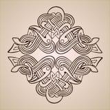 För ramsnirkel för tappning blom- retro modell för barock för prydnad gräns för gravyr vektor illustrationer