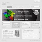 för rastermall för 960 gray website Royaltyfri Foto