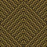 För rastervektor för guld 3d texturerad sömlös modell Gallerabstrakt begrepp Vektor Illustrationer