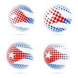 För rastrerad design för vektor flaggauppsättning för Kuba patriotisk stock illustrationer