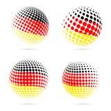 För rastrerad design för vektor flaggauppsättning för Tyskland patriotisk royaltyfri illustrationer