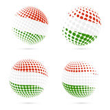 För rastrerad design för vektor flaggauppsättning för Ungern patriotisk Royaltyfri Fotografi