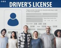 För Registeration för chaufförlicens begrepp för Webpage applikation Royaltyfri Bild