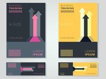 För reklamblad-/broschyrräkning för abstrakt affär företags orientering Templ stock illustrationer