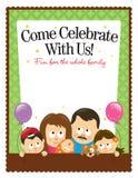 för reklambladlatinamerikan för familj 5x11 8 mall Royaltyfri Bild