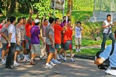 för relayfackla för 2010 lekar olympic ungdom Arkivbilder