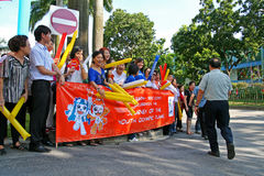 för relayfackla för 2010 lekar olympic ungdom Arkivfoton