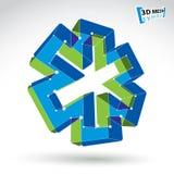 för rengöringsdukambulans för ingrepp som 3d symbol isoleras på vit bakgrund, colorfu Royaltyfri Bild