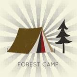 För rengöringsdukbaner för vektor plant läger för skog Arkivbild