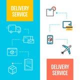 För rengöringsdukbaner för leverans och för logistik tjänste- design Arkivbild