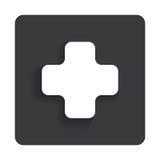 För rengöringsduksymbol för vektor glansig medicinsk beståndsdel för design Royaltyfria Bilder