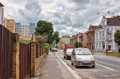 för republiktown för cesky tjeckisk krumlov medeltida gammal sikt Gata Kutna Hora 14 Juni 2016 Royaltyfri Fotografi