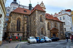 för republiktown för cesky tjeckisk krumlov medeltida gammal sikt Gatan av Prague i sommar 17 juni 2016 Royaltyfri Bild