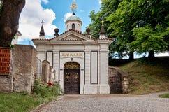 för republiktown för cesky tjeckisk krumlov medeltida gammal sikt Gatorna av Vysehrad i Prague 18 Juni 2016 Fotografering för Bildbyråer
