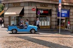 för republiktown för cesky tjeckisk krumlov medeltida gammal sikt Gatorna av Vysehrad i Prague 18 Juni 2016 Arkivbild