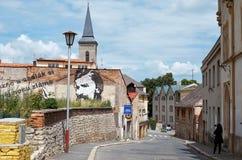 för republiktown för cesky tjeckisk krumlov medeltida gammal sikt Grafitti på gatorna av Kutna Hora 14 Juni 2016 Arkivbilder