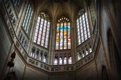 för republiktown för cesky tjeckisk krumlov medeltida gammal sikt Kyrka för ` s för St Barbara av Kutna Hora 14 Juni 2016 Arkivbilder