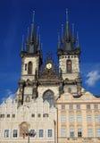 för republiktown för cesky tjeckisk krumlov medeltida gammal sikt Prague Arkivfoton