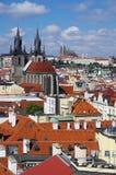 för republiktown för cesky tjeckisk krumlov medeltida gammal sikt Prague Arkivbilder