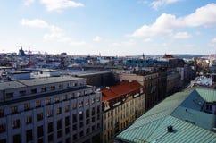 för republiktown för cesky tjeckisk krumlov medeltida gammal sikt Prague Fotografering för Bildbyråer