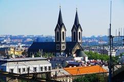 för republiktown för cesky tjeckisk krumlov medeltida gammal sikt Prague Royaltyfria Foton