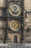 för republiktown för cesky tjeckisk krumlov medeltida gammal sikt Prague astronomical klocka Fotografering för Bildbyråer