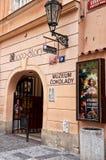 för republiktown för cesky tjeckisk krumlov medeltida gammal sikt Prague Chokladmuseum 15 Juni 2016 Royaltyfri Bild