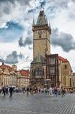 för republiktown för cesky tjeckisk krumlov medeltida gammal sikt Prague Den gamla stadfyrkanten Royaltyfri Foto