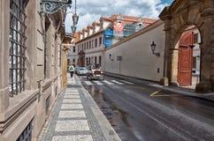 för republiktown för cesky tjeckisk krumlov medeltida gammal sikt prague gata Juni 13, 2016 Royaltyfri Fotografi