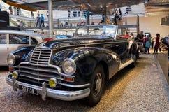 för republiktown för cesky tjeckisk krumlov medeltida gammal sikt Prague Nationellt tekniskt museum tappning för sepia för bilbil Arkivfoton