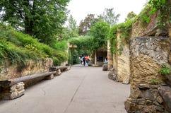 för republiktown för cesky tjeckisk krumlov medeltida gammal sikt Prague Prague zoo Juni 12, 2016 Arkivfoto