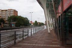för republiktown för cesky tjeckisk krumlov medeltida gammal sikt Prague Strizhkov tunnelbanastation Royaltyfri Fotografi