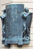 för republiktown för cesky tjeckisk krumlov medeltida gammal sikt Skulpturen i Prague Arkivbild