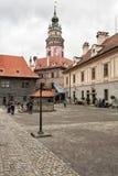 för republiktown för cesky tjeckisk krumlov medeltida gammal sikt Stad av Cesky Krumlov Fotografering för Bildbyråer