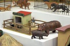 för republiktown för cesky tjeckisk krumlov medeltida gammal sikt Toy Museum i Prague Juni 13, 2016 Arkivfoto