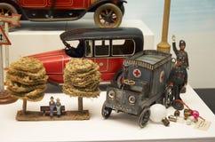 för republiktown för cesky tjeckisk krumlov medeltida gammal sikt Toy Museum i Prague Juni 13, 2016 Arkivfoton