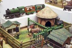 för republiktown för cesky tjeckisk krumlov medeltida gammal sikt Toy Museum i Prague Juni 13, 2016 Royaltyfri Bild