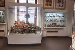 för republiktown för cesky tjeckisk krumlov medeltida gammal sikt Toy Museum i Prague Juni 13, 2016 Royaltyfri Foto