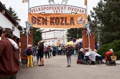 för republiktown för cesky tjeckisk krumlov medeltida gammal sikt Velke Popovice Juni 11, 2016 Fotografering för Bildbyråer