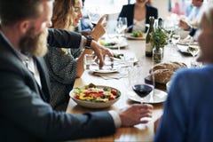 För restaurangparti för mat festligt begrepp för enhet Arkivbild