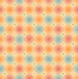 För retro sömlös modell bakgrundstappning för vektor med den geometriska mallen för glansiga cirklar för tapeter, räkningar Arkivbilder