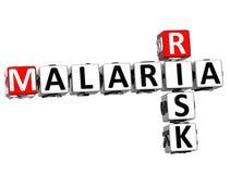 för riskkorsord för malaria 3D text Royaltyfria Bilder