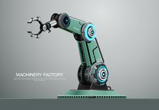 För robotarm för maskin robotic fabrik för hand vektor illustrationer