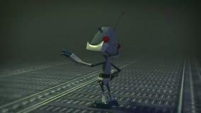För robotkamera för tecknad film 3D rotation arkivfilmer