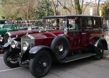 För Rolls Royce 1928 för tappning lyxig bil bil 20HP arkivbilder