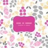 För rosa färg-, guling- och grå färgsidor för vektor abstrakt ram Arkivfoton