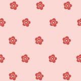 För rosa färgblomma för sömlös modell nätt konst vektor illustrationer