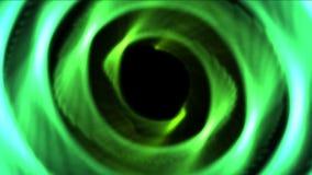 för rosblomma för abstrakt begrepp 4k hål för cirkel för runda, cirkelrundatunnel, energibakgrund stock video